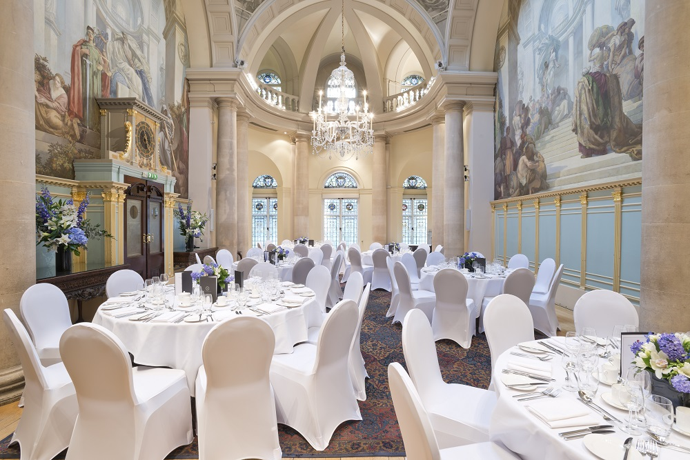 Main Reception Room Dinner set-up and Weddings at OMP